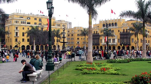 Plaza Mayor í Lima, Perú.